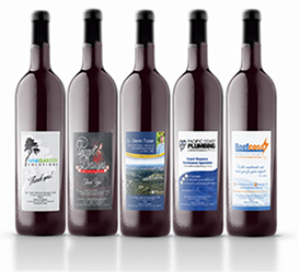 CUSTOM LABELLED WINE BOTTLES