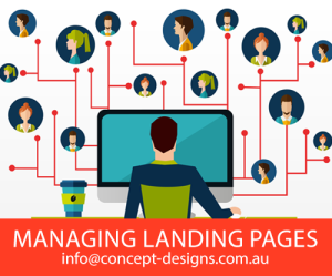 Managing Landing Pages with Concept Designs
