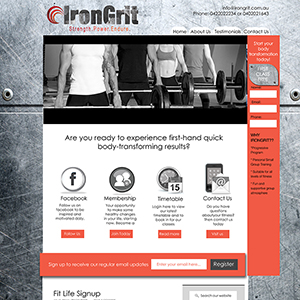 Concept Website Designs and Marketing Gold Coast Web Design Irongrit Website Design - Gallery 8