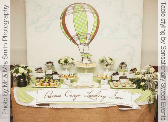 Hot Air Balloon Party Printables for Baby Shower