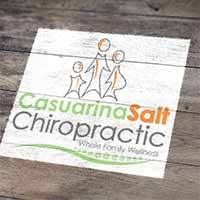 Casuarina Salt Chiropractic Logo design by Concept Designs and Marketing