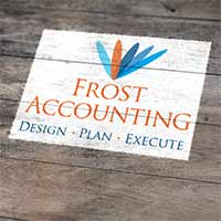 Frost Accounting Logo design by Concept Designs and Marketing - Corporate Branding Gold Coast