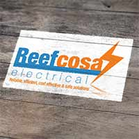 Reefcosa Electrical Services Logo design by Concept Designs and Marketing