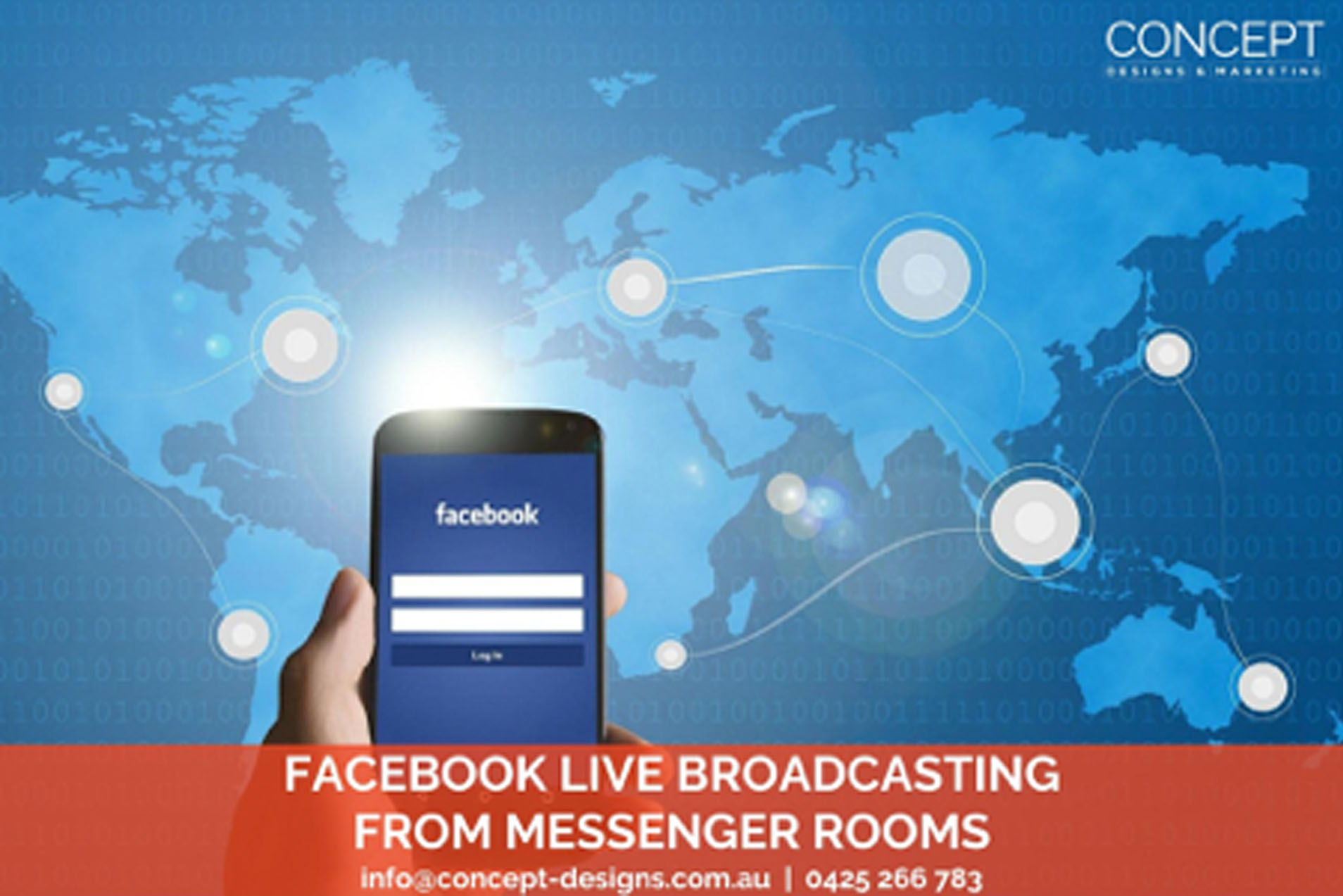 Facebook Live Broadcasting from Messenger Rooms
